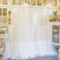New Dots Embroidered Sheer Curtain Double Layers Tulles Organza Sheer Panel Window Treatment Princess Style White Tulle Curtains