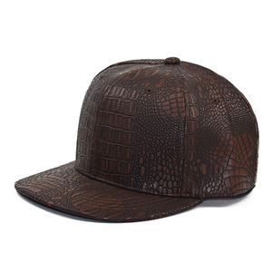 Image 1 - 2020 New Summer Baseball Cap PU Caps Snapback Summer Hip Hop Fitted Cap Hats For Men Women Gorras Mujer Chapeau H07