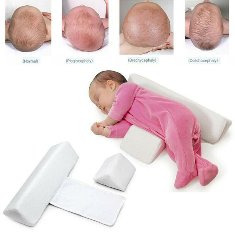 Baby Side Sleep Pillow Support Wedge Adjustable Newborn Infant Anti-Roll Cushion Baby Pillows for Sleeping