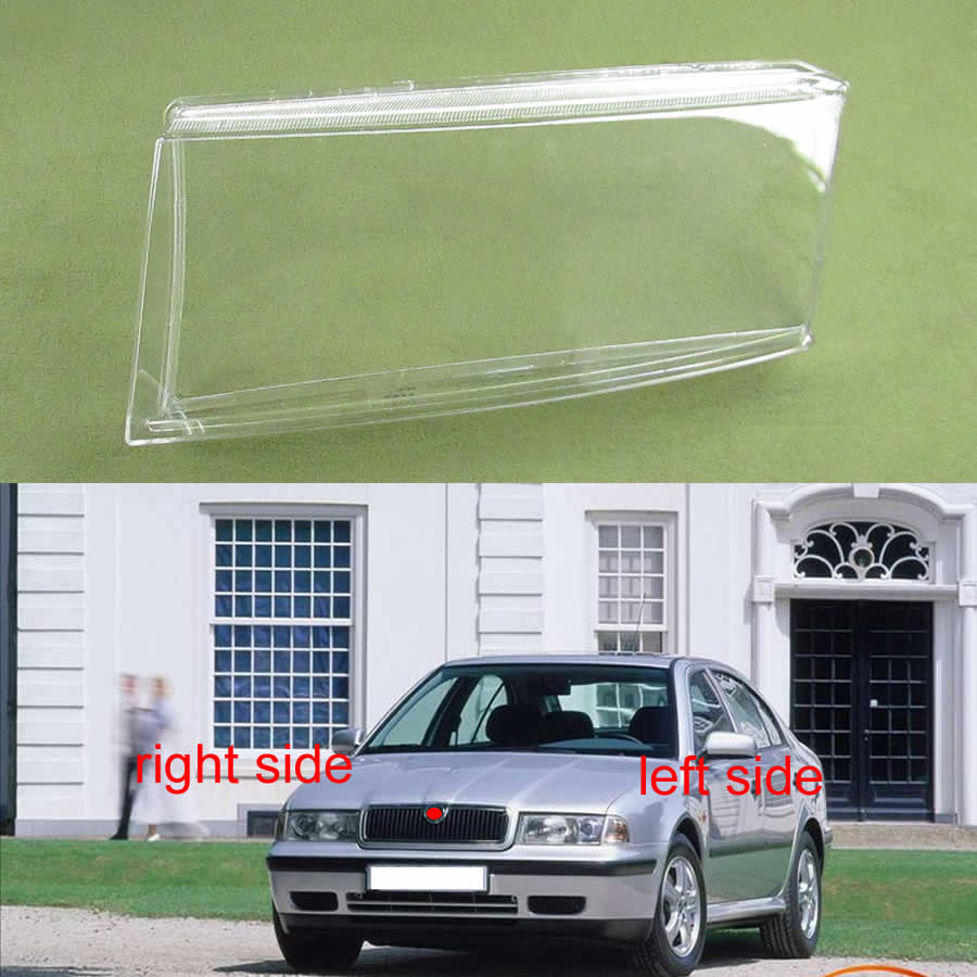 For Skoda Octavia 2001 2002 2003 2004 Headlamp Cove Headlight Cover Large Lampshade Headlight Shell Mask Lens Lamp Shell