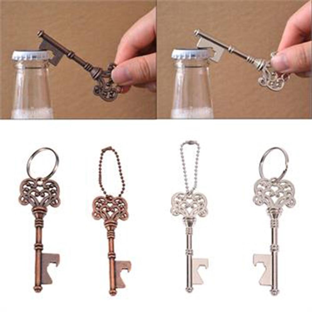 1 Pcs Retro Portable Metal Key Shaped Keychain Beer Bottle Opener Keyring Bar Tools Hangings Keyring Accessories
