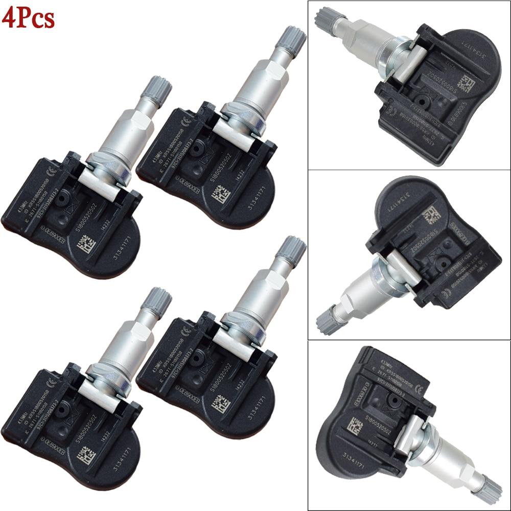 4Pcs TPMS Sensor 31341893 31341171 313418930 Tire Pressure Sensor For Volvo C30 C70 S40 S60 S70 S80 V40 V50 V60 XC60 XC70 XC90