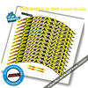 Mavic Crossmax Sl Pro Mtb Wiel Sticker Breedte 18Mm Pro Fietswiel Decals Fiets Stickers Voor Twee Wielen Decals mtb Velg Stickers