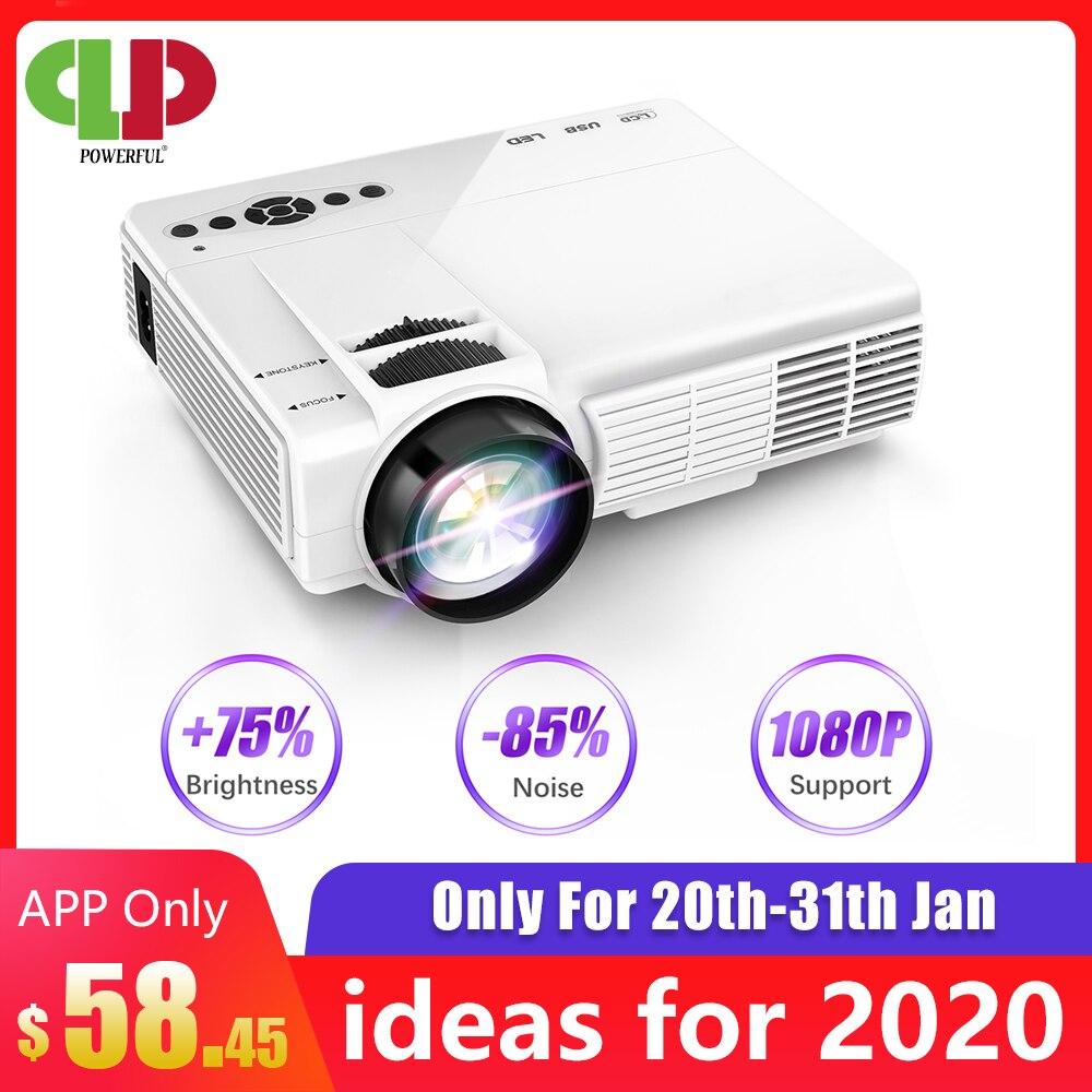 Potente Mini proyector Q5 LED 800*600 ppp soporte 720P portátil proyector de cine en casa Beamer opcional Android proyector wifi