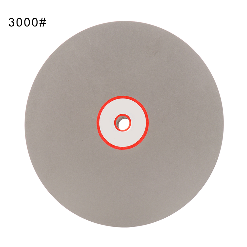 8 Inch Diameter Grit 3000 Diamond Grinding Disc Abrasive Wheel Coated Flat Lap Disk For Gemstone Jewelry Glass Rock Ceramics