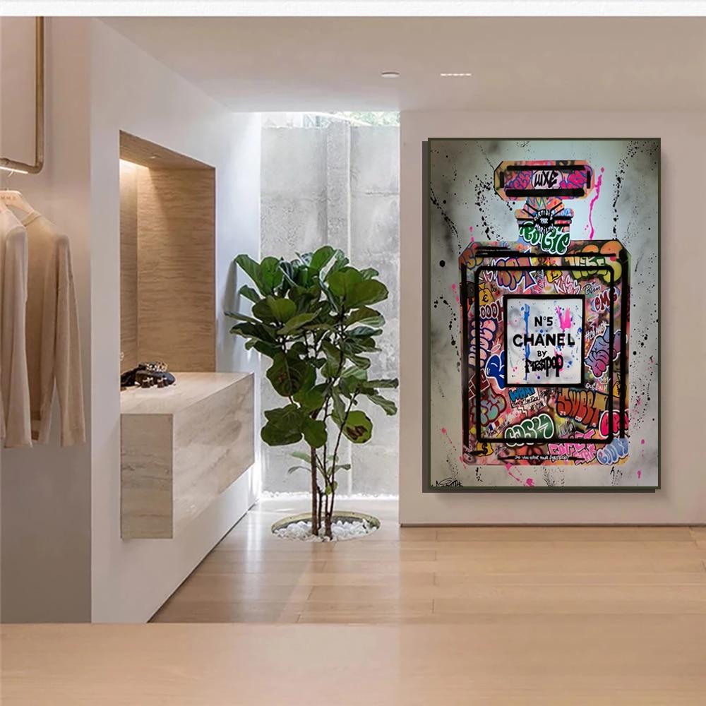 Парфюм индивидуальный цвет уличное искусство холст печать роспись Современная мода для женщин гостиная декоративная живопись постер