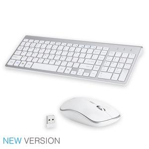 Image 5 - Jelly comb 2.4g sem fio teclado e mouse pente tamanho completo 102 teclas de baixo ruído usb teclado sem fio mouse para computador portátil