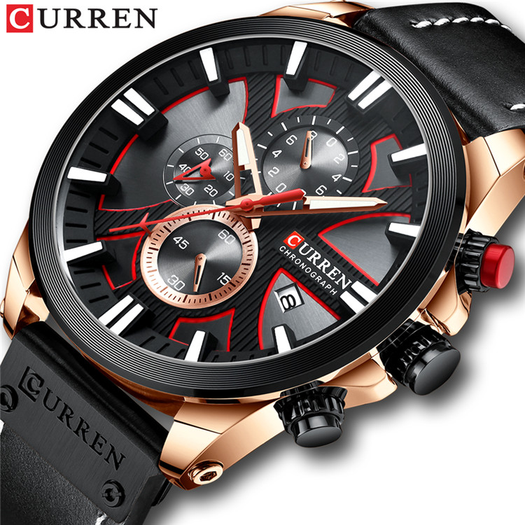 New CURREN Men Watches Fashion Quartz Wrist Watches Men's Military Waterproof Sports Watch Male Date Clock Relogio Masculino 8