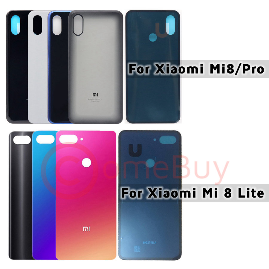 Back Glass <font><b>Cover</b></font> For <font><b>Xiaomi</b></font> <font><b>Mi</b></font> <font><b>8</b></font> Lite Back <font><b>Battery</b></font> <font><b>Cover</b></font> Mi8 Pro Rear Glass Door Housing Case For <font><b>Xiaomi</b></font> Mi8 Lite Back <font><b>Cover</b></font> image