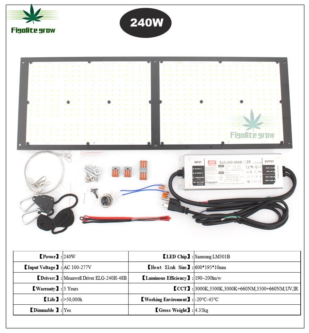 DIY ściemniania 150w 240W QB288 Samsung lm301B 3000 K/3500 K mix 660nm UV IR, oświetlenie led do uprawy, led quantum pokładzie z sterownik meanwell