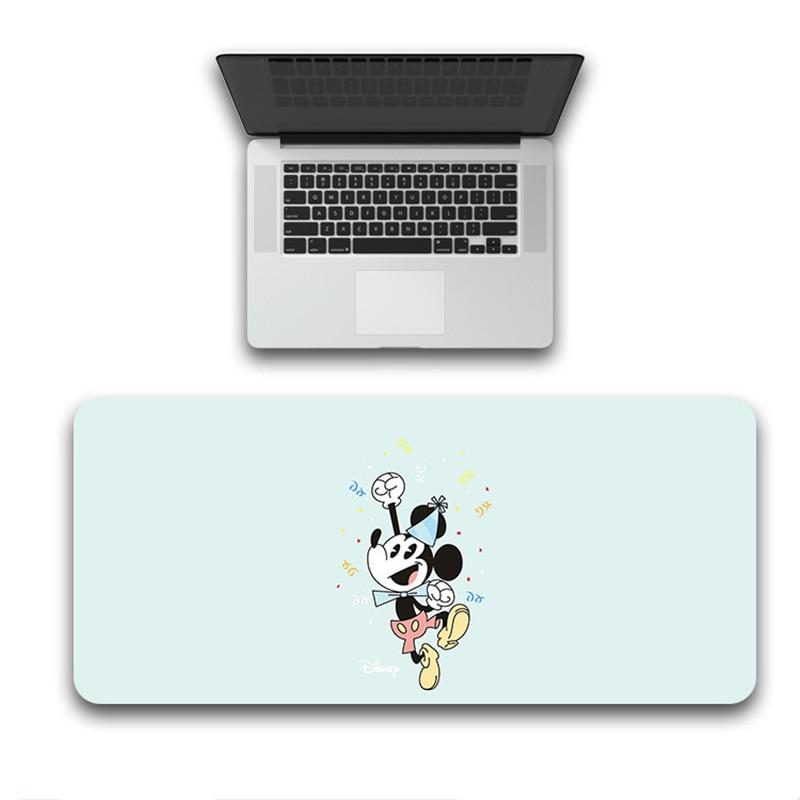 Mickey tapis de souris de jeu 80x30cm grand tapis de souris dessin animé Minnie ordinateur tapis de souris Surface Mause Pad clavier tapis de bureau cadeau