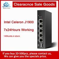 HLY Clearance Mini PC Celeron J1900 4*Gigabit Ethernet LAN Pfsense Ubuntu Firewall Router Fanless Micro PC Industrial Computer