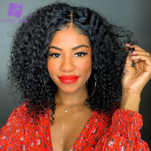 Wigs Human-Hair Lace Women Short Hairline Curly Pre-Plucked Kinky Brazilian 5x5 Luffywig