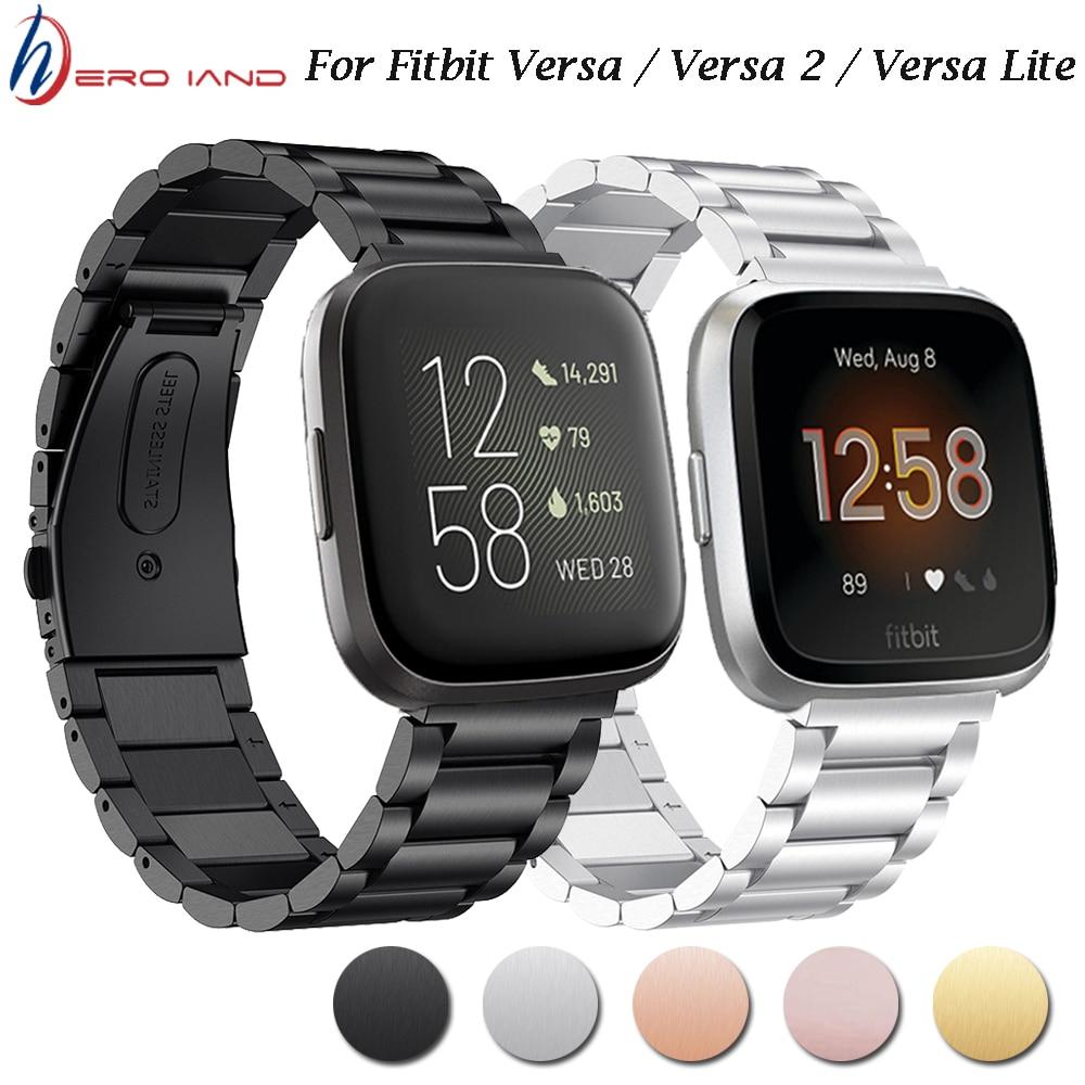 Для Fitbit Versa смарт-браслет из нержавеющей стали ремешок металлический браслет петля для Fitbit Versa 2 /Lite Смарт-часы