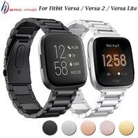 Para Fitbit viceversa inteligente pulsera de acero inoxidable de la correa de Metal pulsera Loop para Fitbit viceversa 2 /Lite Smart reloj banda