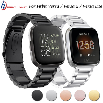 For Fitbit Versa Smart Bracelet Stainless Steel Strap Metal Wristband Loop For Fitbit Versa 2 /Lite Smart Watch Band tencloud replacement strap for fitbit versa 2 band stainless steel metal bracelet for versa versa lite smart watch wristband