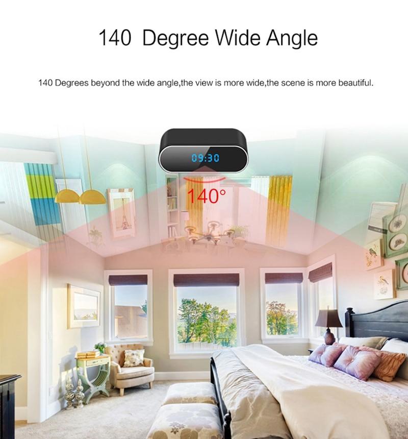 alarm clock HD Clock WiFi Camera Mini IP home security Camcorder P2P Night Vision Alarm Motion Remote CCTV Camera (5)