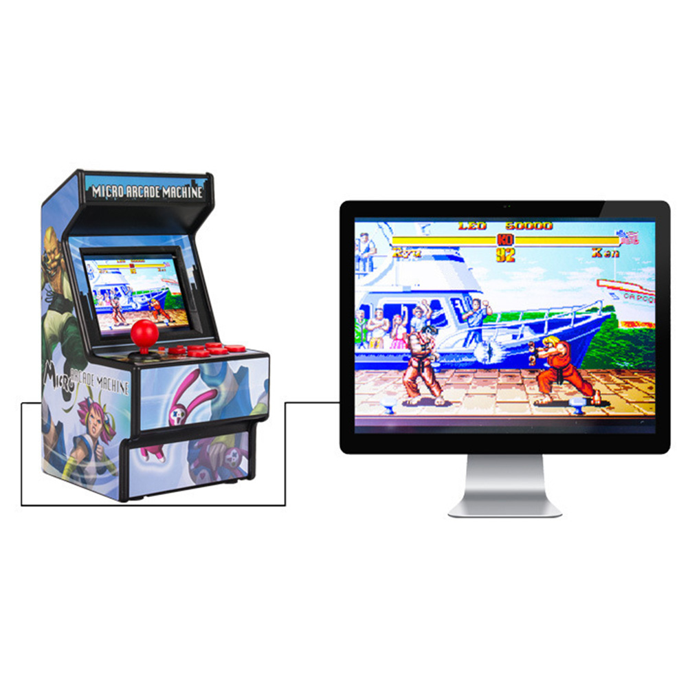 16 Bit Color Screen Retro Intellectual 156 Games Joystick Handheld Parent child Mini Fun Game Console Player Toy Battery Powered