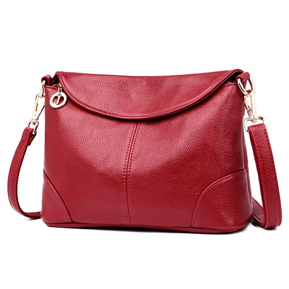 Leather Luxury Women Handbags Designer Messenger Bag Small Ladies Shoulder Hand Crossbody Bags For Women 2020 bolsas de mujerShoulder Bags   -