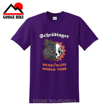 SCHRÖDINGER DELLE GATTO DEAD ALIVE World Tour T-SHIRT-Il Grande Schroedinger TV Bang Theory hip hop divertente Hero Flerken mens tee shirts(China)