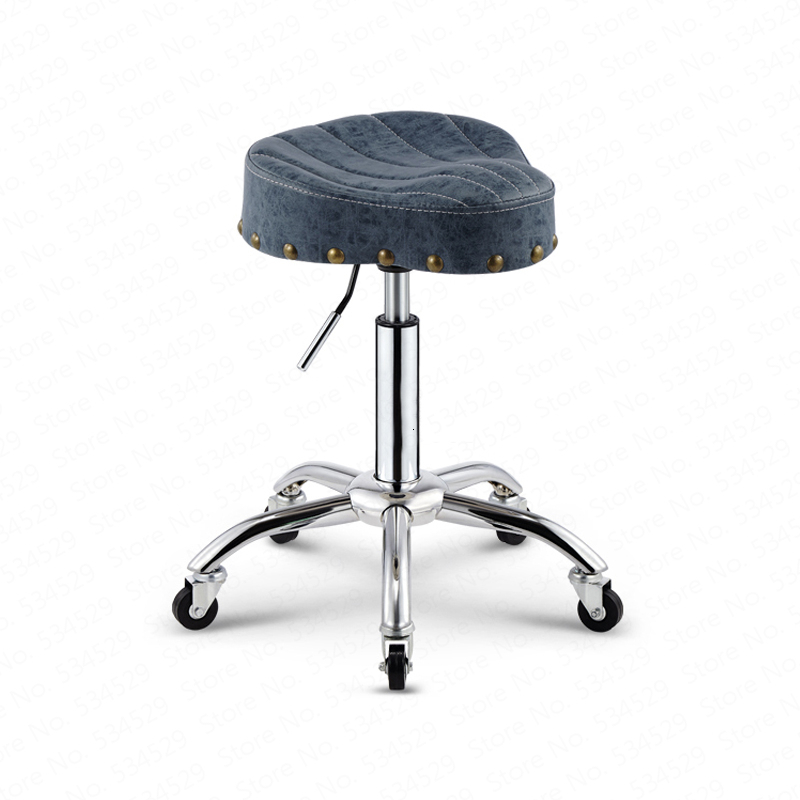 Beauty Stool Barber Shop Chair Hair Salon Rotating Lift Stool Nail Makeup Salon Pulley Workbench  Recliner Lifting Chair Dotomy