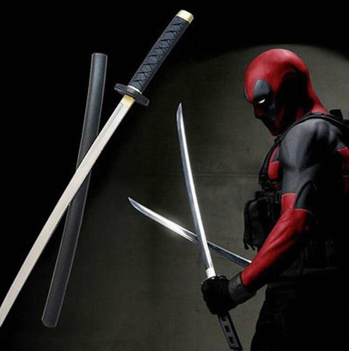 One Pcs 61cm 76cm MiSUZU Movie Deadpool Cosplay Sword Figure Model Equipment PU Swords Weapons Party Costumes Accessories Props