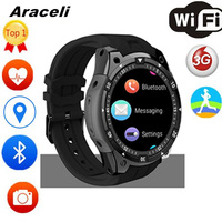 2020 Bluetooth Smart Watch Heart Rate Card Call IP67 Waterproof 3G WiFi GPS Android SmartWatch Men Touch Screen Smart Watch V8