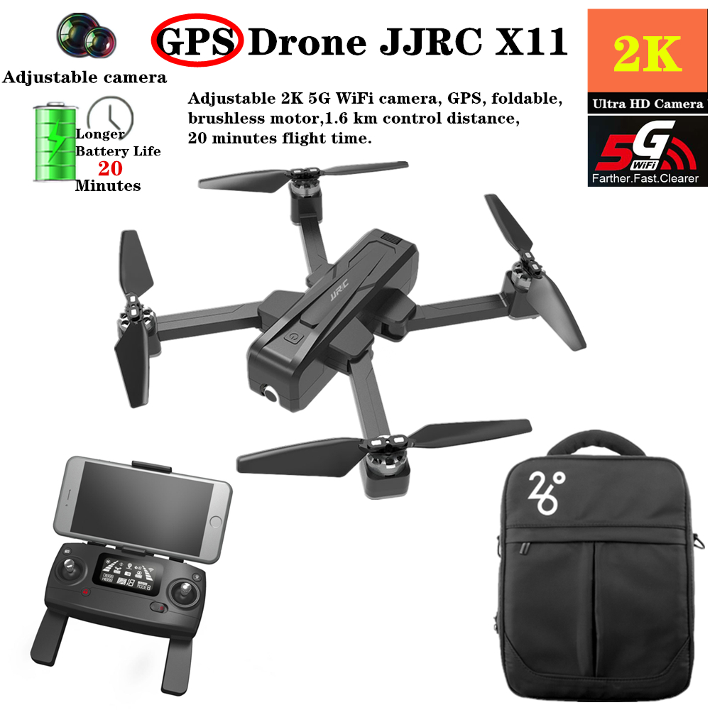 <font><b>JJRC</b></font> <font><b>X11</b></font> GPS RC <font><b>Drones</b></font> With 2K 5G WiFi HD Camera Optical Flow Follow Pro Selfie Brushless Quadcopter Fly 20mins VS B4W F11 image