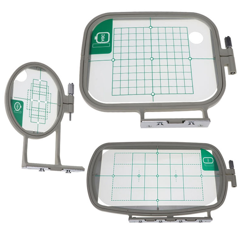 3PCS Embroidery Hoop Frame Set for Brother PE-500 PE-400D HE-240 LB-6700 Innov-Is 955 950D 500D,3In1-A Sewing Machine