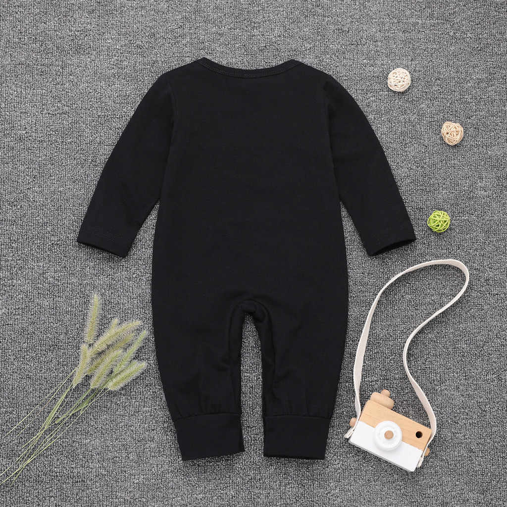 Mono para recién nacido, bebé, niño, niña, botón, letra, mono, mono, ropa para bebé, mameluco, manga larga, traje infantil