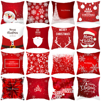 1pcs/lot Christmas Cushion Cover 45x45cm Pillow case Sofa Pillow Cases Pillow Covers gift Decorations for Home Xmas Decor 2019 christmas throw pillow covers santa clause 0utdoor pillow decorations for home sofa bed pillowcase xmas party kids gift
