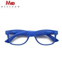 MEESHOW-gafas de lectura para hombres y mujeres, anteojos clásicos de diseñador de marca, de alta calidad, con bolsa para leer, incluye M1415, 3,00