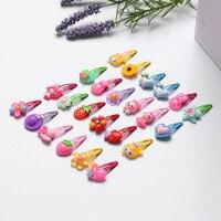 1/5/10/15 Uds al azar mezcla de estilos de dibujos animados flor horquillas niños encantadores pasadores para niñas Multicolor Accesorios para peinados 3CM