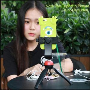 Image 5 - Tripod Mount Phone Clip Vertical Bracket 360 Degree Rotating Tripod Adapter for Iphone Samsung Xiaomi Huawei