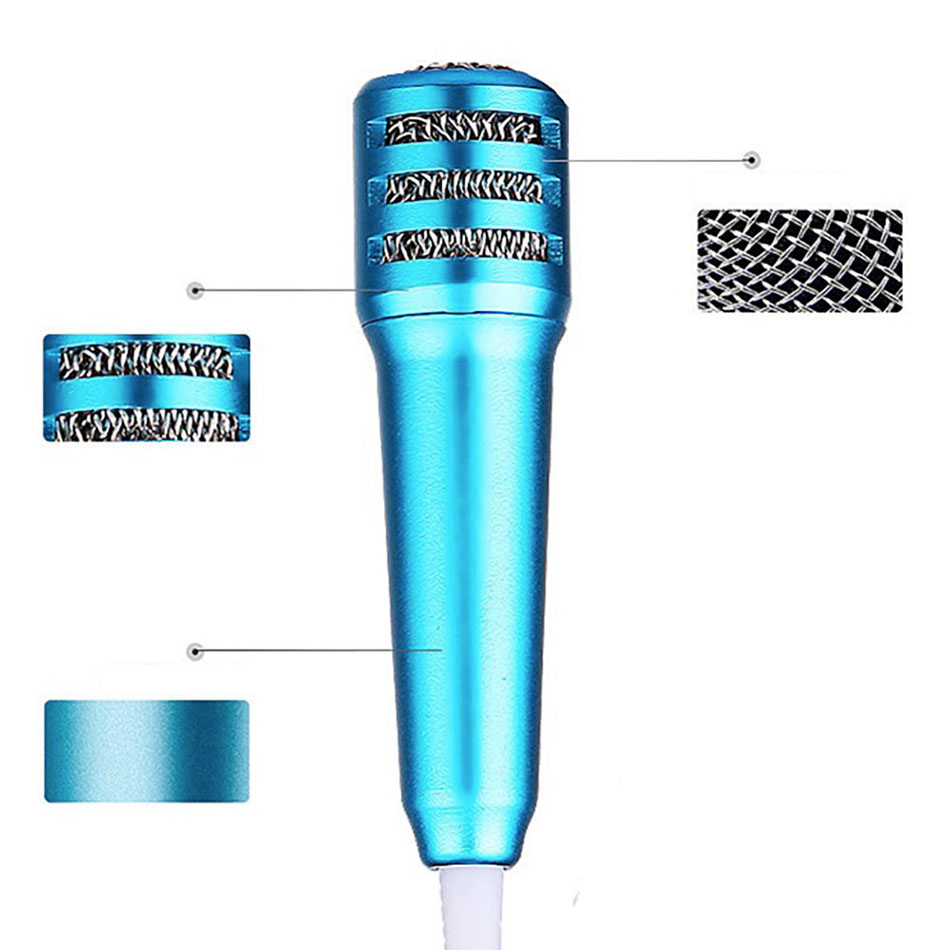 Haluoo Portable Mini Handheld Microphone Lightweight Wired Vocal//Instrument Microphone for Karaoke Live Vocal Speech Singing Fits Laptop Desktop Computer Tablet Tv Karaoke Cell Phone Mic