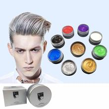 цена на Multicolor Disposable Hair Color Wax Dye Molding Paste Hair Dye Wax Mud Cream New Unisex Natural Hair Color Wax mofajang