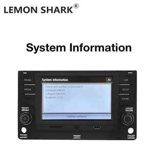 """Image 2 - Limon köpekbalığı MQB 6.5 """"MIB araba radyo Mirrorlink OPS ters kamera için VW Passat B8 Golf 7 radyo MK7 yedi 5GG 035 280B"""