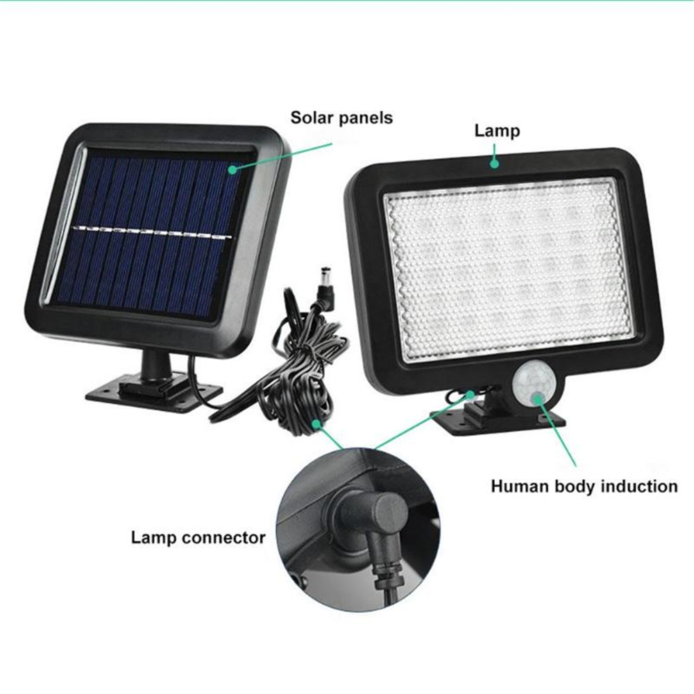 LED Pathway Solar Power Light PIR Motion Sensor Outdoor Wall Lamp Waterproof Energy Saving Outdoor IP65 Solar Security Lights Ne