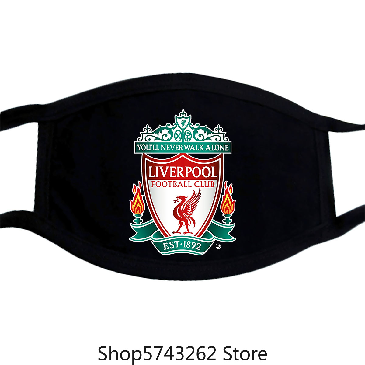 Authentic Liverpool Full Color Logo Slim-Fit Mask SweaMasks Heather Gray S-2Xl New