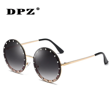 2020 Fashion round diamond Sunglasses Cool women Vintage Gradient Brand Design u