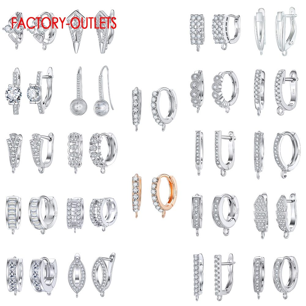 New Arrivals 925 Sterling Silver Earring Findings High Quality Fashion Jewelry Accessories For DIY Crystal Earring Findings