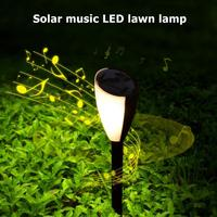 2pcs IP44 Waterproof Solar Light LED  Festival Lawn Lamp Comes With Sound And Light Music White Light Warm Light Can Be Switched