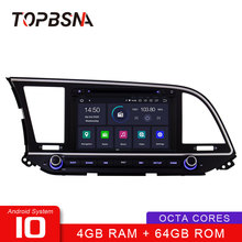 TOPBSNA Car DVD player Android 10 Per HYUNDAI ELANTRA 2016 2017 2018 WIFI Multimedia di Navigazione GPS 2 Din Auto Radio stereo Video