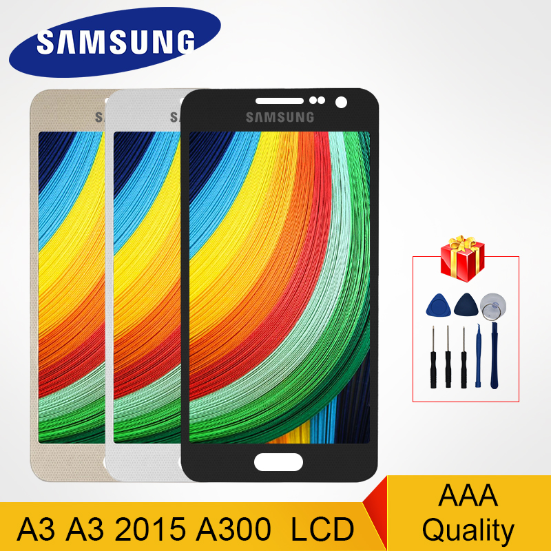 A300F <font><b>LCD</b></font> Adjustable For <font><b>Samsung</b></font> Galaxy A3 2015 <font><b>A300</b></font> Display <font><b>LCD</b></font> Touch Screen Digitizer A3000 A300M SM-A300F Replacement Parts image