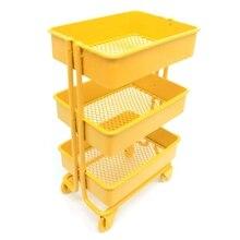 Wysokiej jakości Mini wózek podłogowy regał magazynowy z kółkami Dollhouse miniaturowe meble półka T3EA