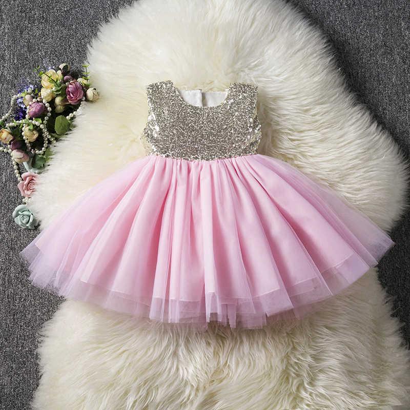 2020 vestido de niña con flores para bebés, vestido de lentejuelas, tutú para niñas, ropa de princesa para niñas, ropa de ceremonia para niños de 1 a 5 años