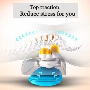 Image 4 - U shape massage pillow Massager for neck waist Cervical Shiatsu Massage Cushion Heating relax back massager electric reflexology