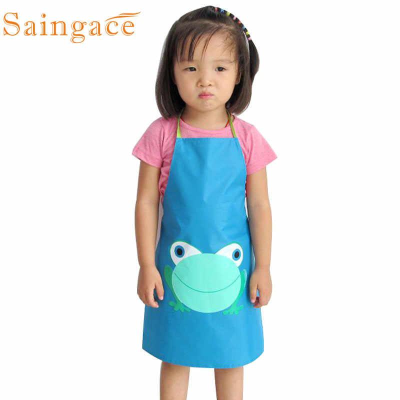 Saingace Kitchen Apron Cartoon Frog Print Cooking Bib Kids Aprons Home Decorations Waterproof Cute 2020 Drop Ship Aliexpress