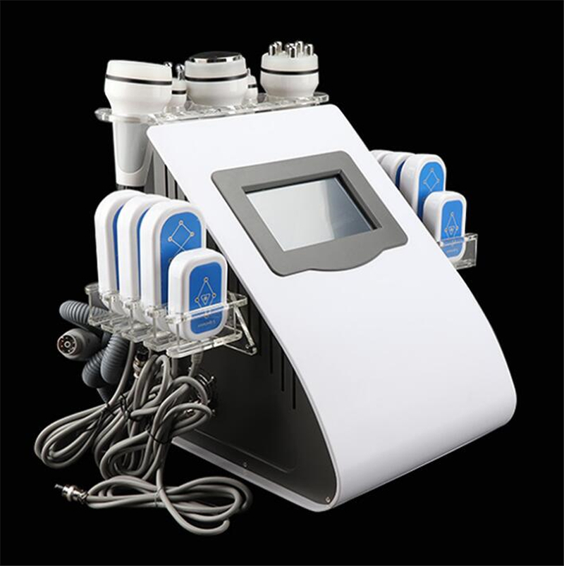 Beauty Machine 6-1 Portable 40K Cavitation Ultrasonic Fat Dissolve Radio Frequency Multipolar RF Vacuum Body Slimming Machine