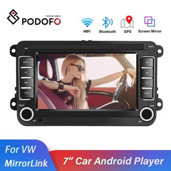 Podofo 2 din Android 8.1 For VW/Volkswagen/Golf/Polo/Tiguan/Passat/b7/b6/leon/Skoda/Octavia 2Din Radio Car GPS Multimedia player image